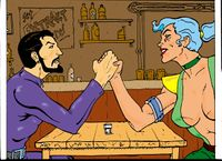 The Eel and Radium Jane Arm Wrestling.jpg